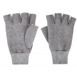 Brixton Robbie Fingerless Heather Grey bonnet