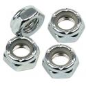 Axle Nuts - 4 wheel nuts - Silver - 13 '