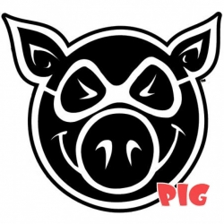 PIG XXL logo sticker