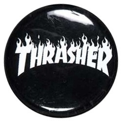 Thrasher Flame Button pins-badge