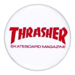 Thrasher Skateboard Mag Button pins-badge