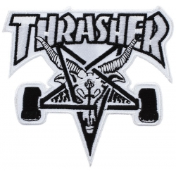 Thrasher Skategoat Black / White patch