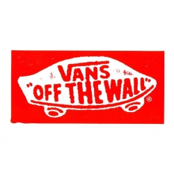 Vans Tab Off The Wall - Red sticker