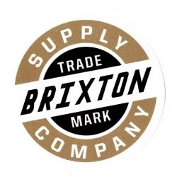 Brixton Marke - Weiß / Gold - M. aufkleber