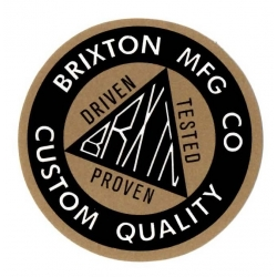 Brixton Ltd Custom Quality - Black/Gold - M sticker