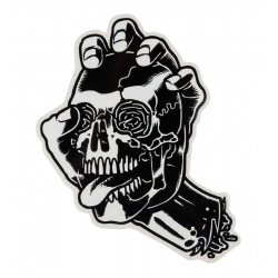 Santa Cruz Screaming skull sticker
