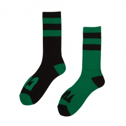 Creature Flip Floppers Crew Black Green socks