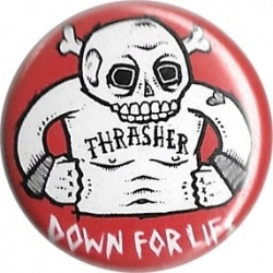 Thrasher Down For Life Button pins-badge