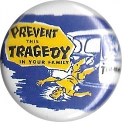 Thrasher Prevent This Tragedy Button pins-badge