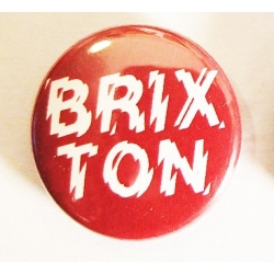 Brixton Positive Charge - Button - Red pins-badge