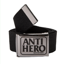 Anti-Hero RESERVE WEB GUNMETAL - BLACK belt