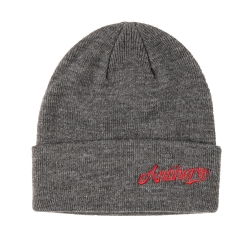 Anti-Hero SCRIPT - DARK CHARCOAL - RED beanie