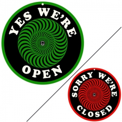 Spitfire Wheels CLASSIC OPEN CLOSE SIGN accessoire