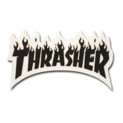 Thrasher Magazine Flame - Black - S sticker