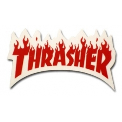 Thrasher Magazine Flame - Red - S sticker