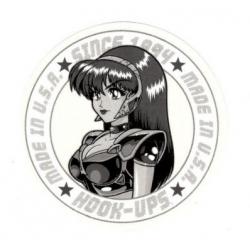 Hook Ups Cyber Since 1994 - Gray sticker