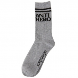 Anti-Hero BLACKHERO IF FOUND HEATHER BLACK socks