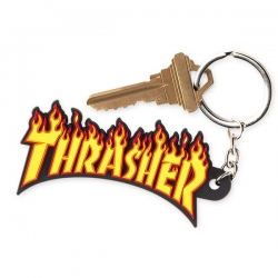 Thrasher Flame Keychain accessory