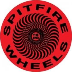 Spitfire Classic Swirl - Red/Black - S sticker