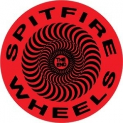 Spitfire Classic Swirl - Red / Black - S sticker