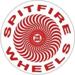 Spitfire Classic Swirl - Clear / Red - S sticker