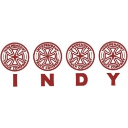 Independent Four Of A Kind Decal - Red sticker