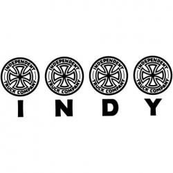 Independent Four Of A Kind Decal - Black sticker