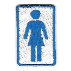 Girl Logo blue patch