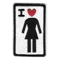 Girl Skateboards I Love Girl patch