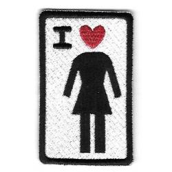 Girl Ik hou van meisje patch
