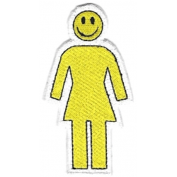 Girl Smiley Yellow parche