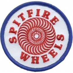 Spitfire Wheels Classic White Red Blue patch