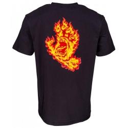 Santa Cruz Skateboards Santa Cruz T-shirt Flame Hand - Black t-shirt