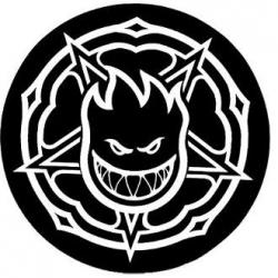 Spitfire Pentagram White Black sticker