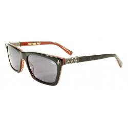 Black Flys Fly Gothic S.Blk-Red/Smk lunettes-de-soleil