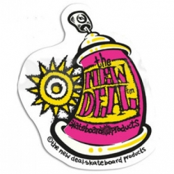 New Deal Spray Can Pink sticker