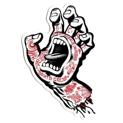 Santa Cruz Screaming Hand Tattoo Mid sticker