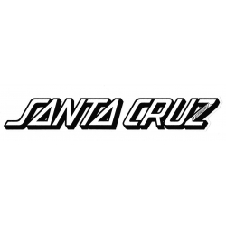Santa Cruz Classic Strip Decal Black White sticker