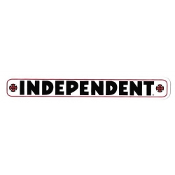 "Independent Bar Decal 4"" - White sticker"