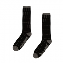 Creature Fifty Fifty Crew Grey Black chaussettes