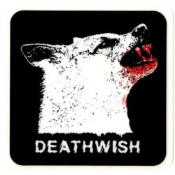 Deathwish Wolf blood sticker