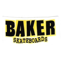 Baker brand logo yellow sticker