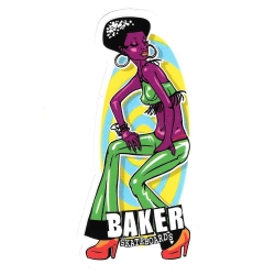 Baker disco girl sticker