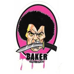 Baker dientes de cuchillo pegatina