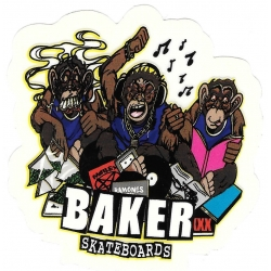 Baker monkeys music sticker