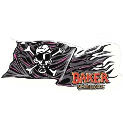 Baker pirate flag sticker