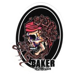 Baker skull roses sticker