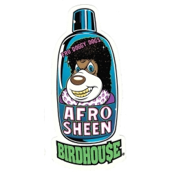 Birdhouse afro sheen sticker