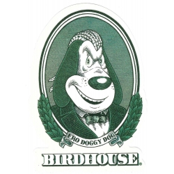 Birdhouse fro doggy dog sticker