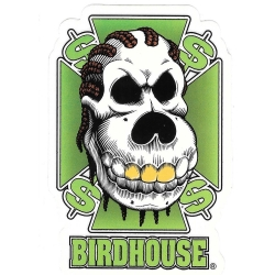 Birdhouse green dollars sticker